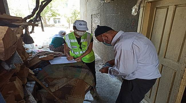 Antalya Büyükşehir Belediyesi acıları dindirmek için çalışıyor