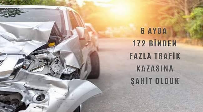 Araştırma: 6 ayda 172 binden fazla trafik kazasına şahit olduk