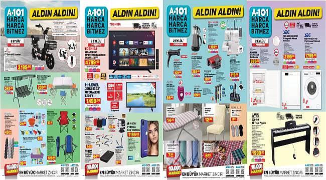 Birbirinden uygun fiyatlı ürünler tüm A101 marketlerinde....