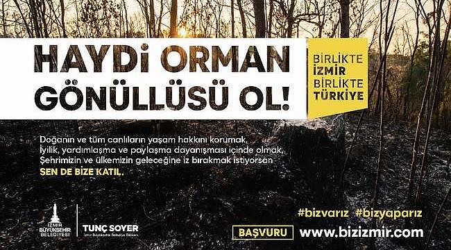 """İzmir Büyükşehir Belediyesi yangınlara sivil müdahale için """"Orman Gönüllüleri Ekibi"""" kuruyor"""