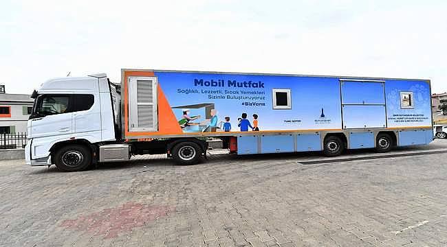 İzmir Büyükşehir'in mobil mutfağı Muğla'da