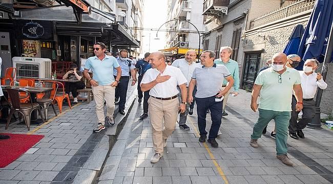 Tunç Soyer esnaf temsilcileriyle buluştu: Kıbrıs Şehitleri Caddesi şehrin vitrini olacak