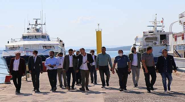 Aliağa ile Midilli Adası arasında gemi seferleri için çalışma başlatıldı