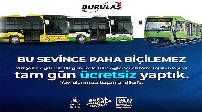Bursa'da binlerce öğrenciye ücretsiz ulaşım sürprizi
