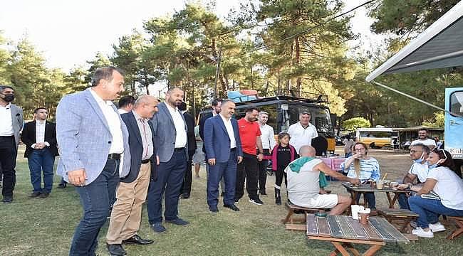 Kamp ve karavan tutkunlarını buluşturan festival