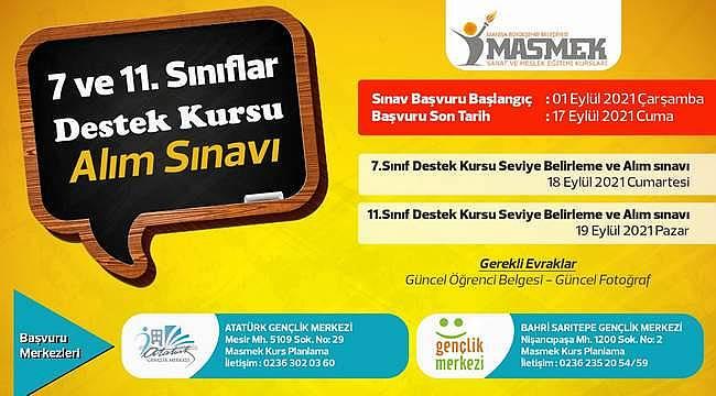 Manisa Büyükşehir Belediyesi, 7. ve 11. sınıf öğrencileri için destek kursu açtı