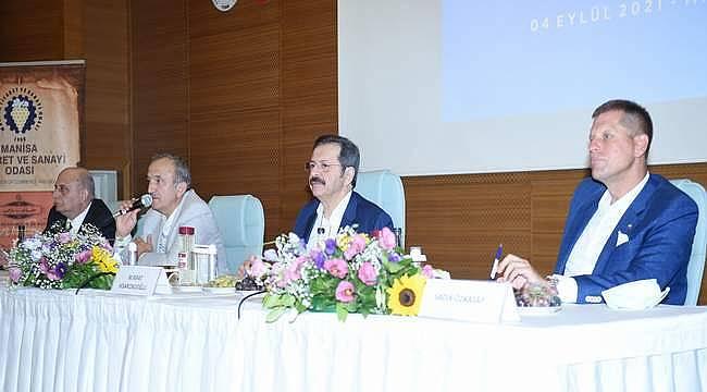 TOBB Başkanı Hisarcıklıoğlu, Manisa iş dünyası ile buluştu