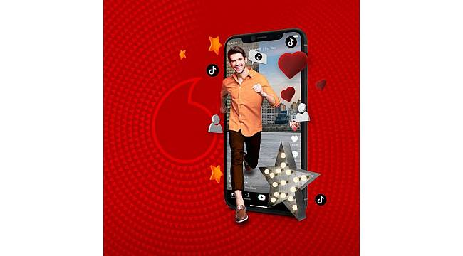 """Türkiye'de ilk kez ve sadece Vodafone'da: """"Sınırsız TikTok"""""""