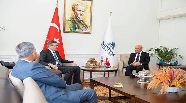 Soyer, Avusturya'nın Ankara Büyükelçisi Wimmer'i ağırladı
